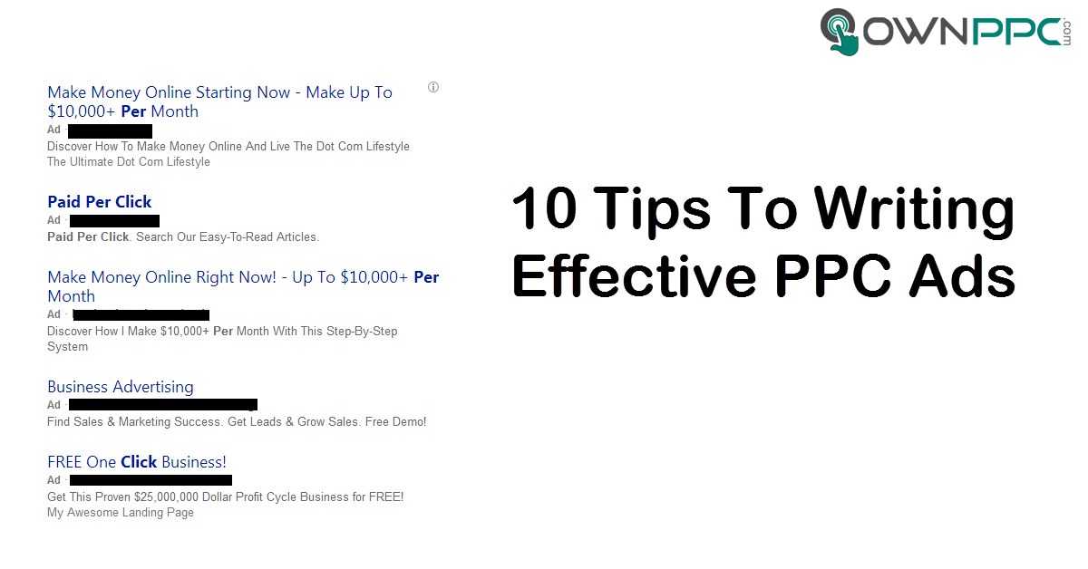 10 Tips To Writing Effective PPC Ads